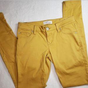 Express Jeans Mustard Skinny Jeans Sz 2